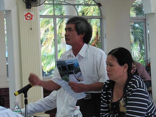 Ông Nguyễn Thức trình bày với Thanh tra Chính phủ việc gia đình ông bị TP Đà Nẵng thu hồi đất để xây dựng khu dân cư