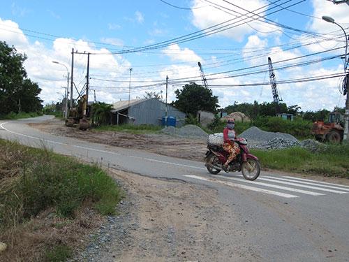 Khu vực nằm trong dự án khu đô thị Sing Việt, xã Lê Minh Xuân, huyện Bình Chánh, TP HCM