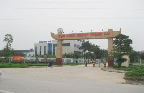 Cụm công nghiệp Thanh Oai đã hoạt động hơn 6 năm, nhưng đến nay người dân vẫn chưa có đất dịch vụ 10%.