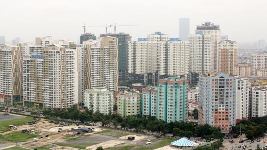 Khu đô thị mới Trung Hòa - Nhân Chính một trong những khu đô thị hiện đại được Hà Nội xây dựng và quy hoạch. Ảnh Phạm Hùng