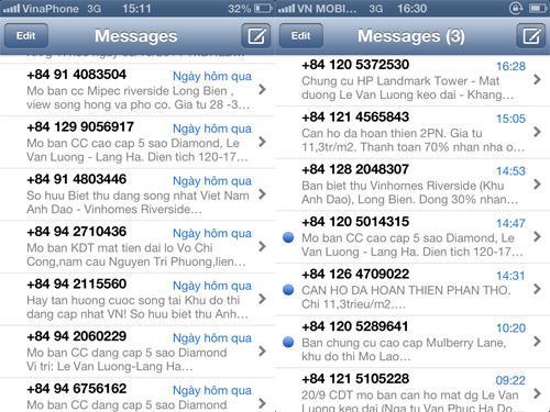 tin nhắn rác, doanh nghiệp, chủ đầu tư, sàn giao dịch, nạn nhân, tin nhắn, spam