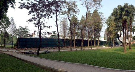 bãi xe ngầm, công viên Thống nhất, Hà Nội
