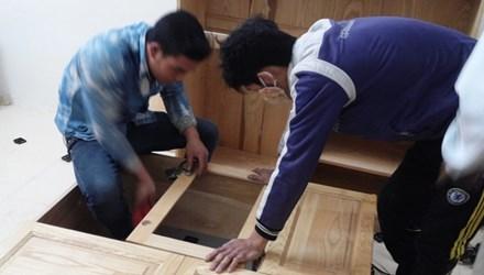 Sửa chữa, tân trang lại căn hộ tại chung cư Kim Văn, Kim Lũ (quận Hoàng Mai, Hà Nội). Ảnh: Phạm Anh.
