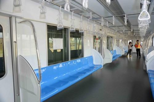 Bên trong mô hình đầu máy toa xe của tuyến metro số 1