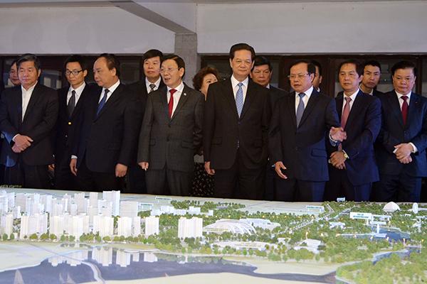 Thủ tướng Nguyễn Tấn Dũng dẫn đầu đoàn công tác về làm việc với Hà Nội