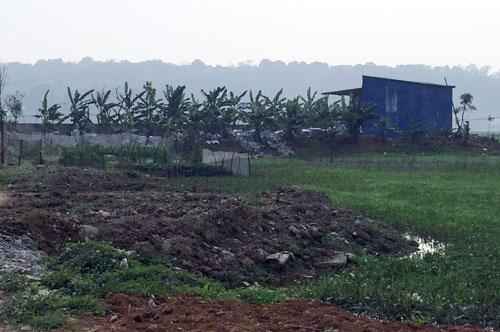 Nhiều hộ dân đã tự ý xây tường bao, đổ đất tại khu đồng Dầm, đồng Cấp Tứ nhưng không bị xử lý.