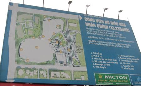 công viên, hồ điều hòa, chủ đầu tư Megastar, Ocean Group,Dự án Công viên Hồ điều hòa Nhân Chính , Công ty Vina Megastar