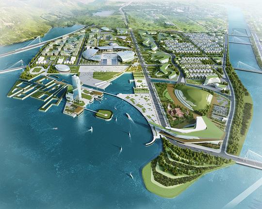 Mô hình khu đô thị trung tâm hành chính tỉnh Khánh Hòa
