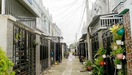 Một khu dân cư phân nền tại huyện Hóc Môn.