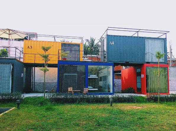 Khách sạn container siêu hot bên bờ biển Mỹ Khê