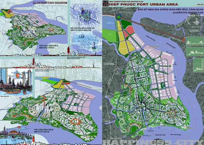 TP.HCM: Quy hoạch 1/2000 Phân khu 1,2,3 - Khu đô thị Hiệp Phước