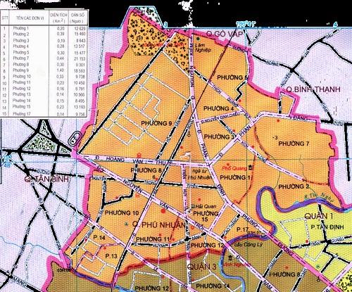 Điều chỉnh QHCT khu dân cư liên phường 8-15-17, quận Phú Nhuận diện tích 68,08 ha