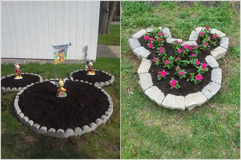 ngoai that 3 1478601061 Thiết kế mẫu sân vườn lấy cảm hứng từ nhân vật chuột Mickey