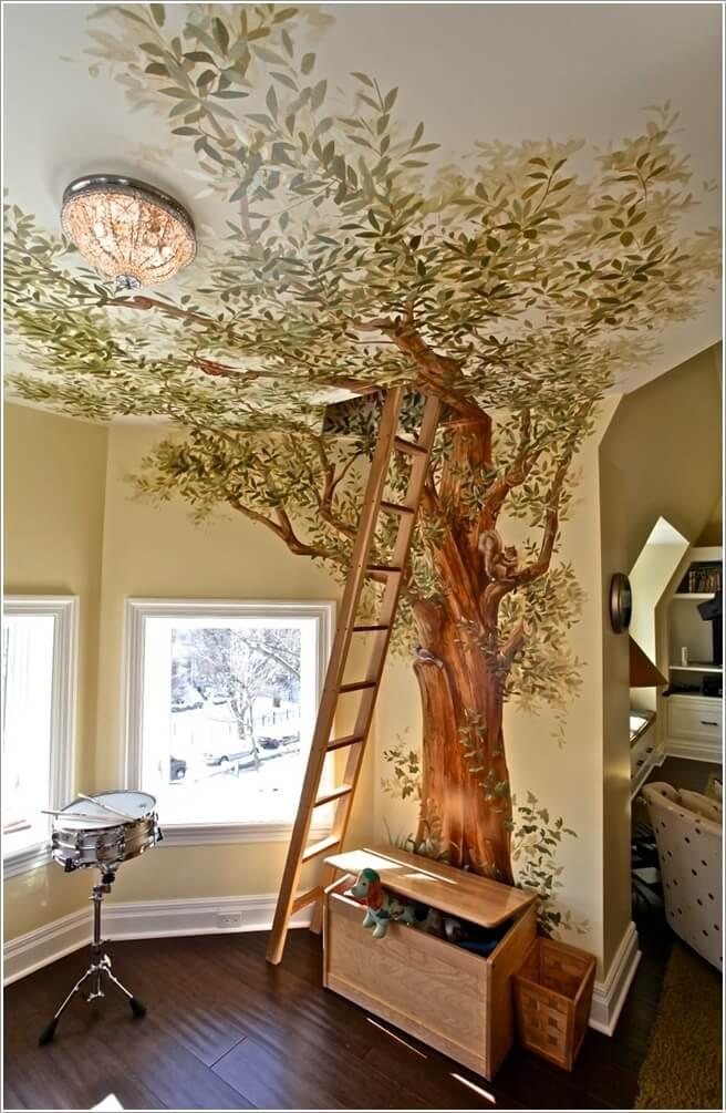 tuong dep 6 1478797064 Thử sáng tạo với tranh tường trang trí cho nhà đẹp
