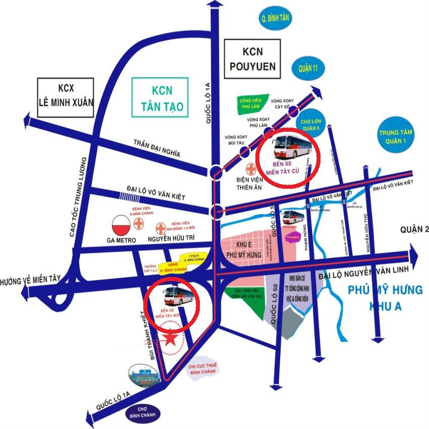 Di dời Bến xe Miền Tây, xây Khu phức hợp có siêu thị Co.opmart