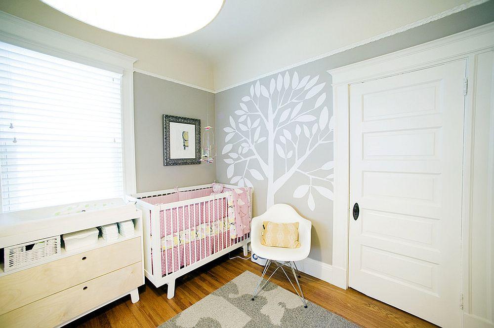 phong be 1 1480527384 Xu hướng trang trí phòng bé với màu hồng và màu xám mới nhất