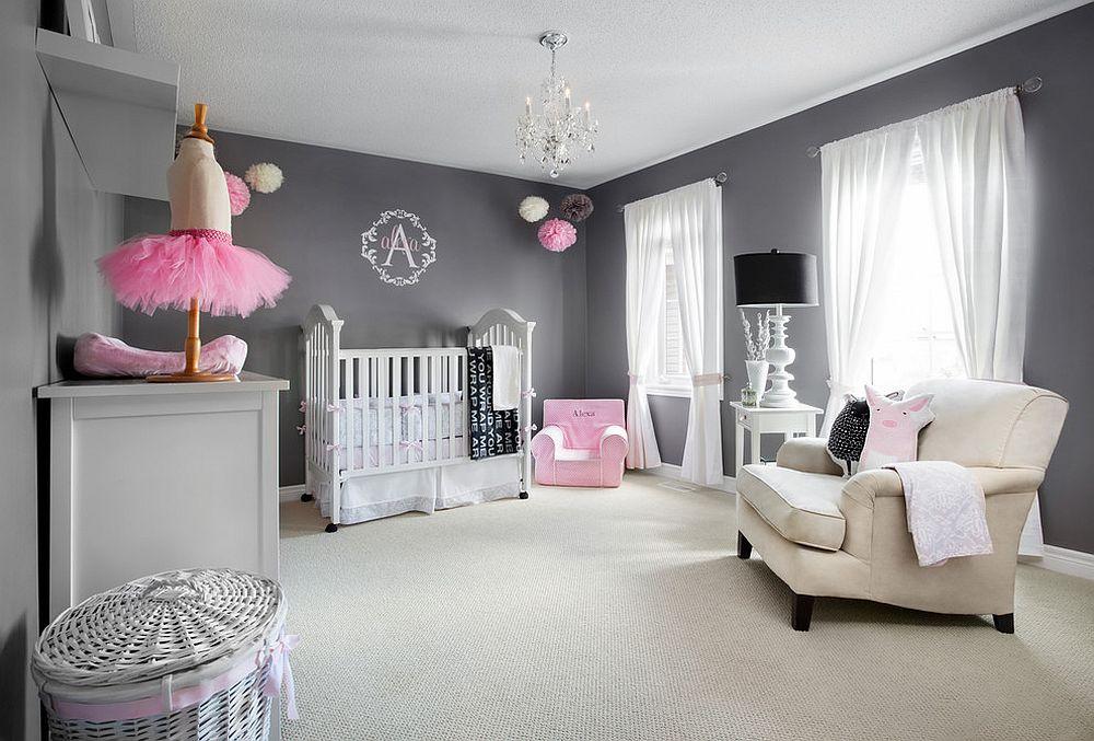 phong be 3 1480527431 Xu hướng trang trí phòng bé với màu hồng và màu xám mới nhất