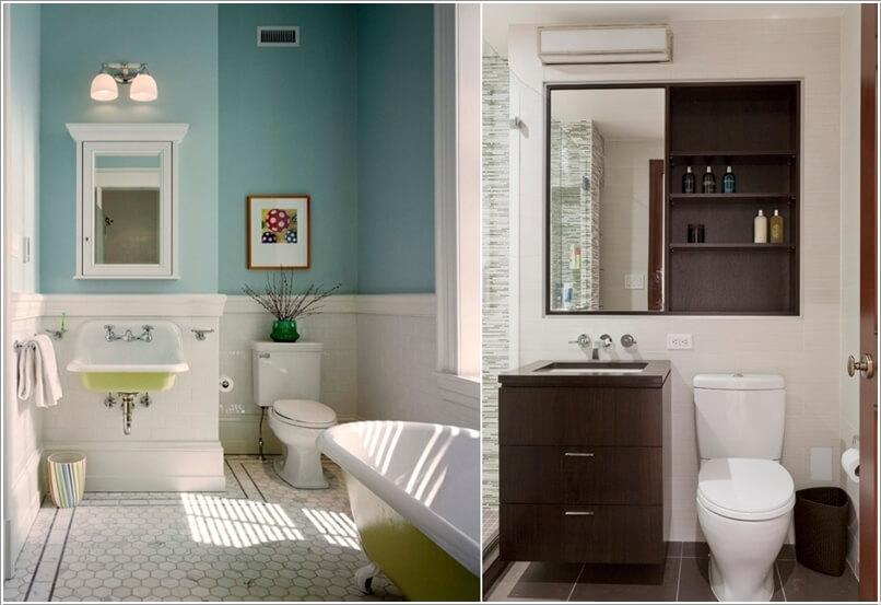 phong tam 1 1480417716 Cách để tạo không gian lưu trữ trong phòng tắm