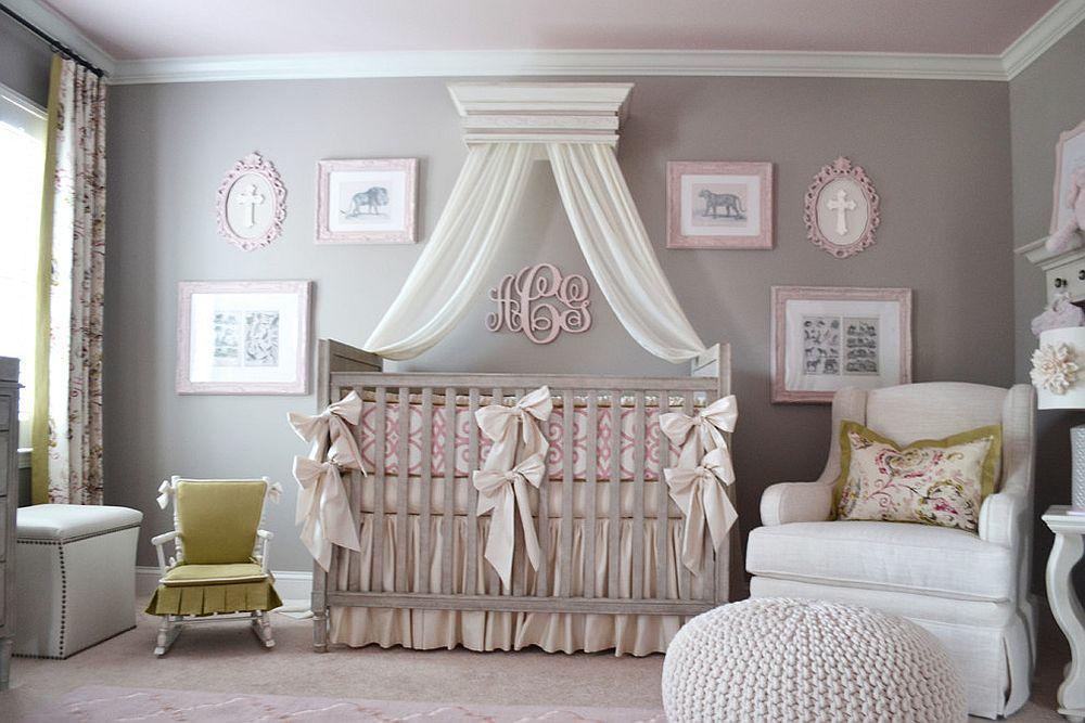 phong be 10 1480581987 Xu hướng trang trí phòng bé với màu hồng và màu xám mới nhất