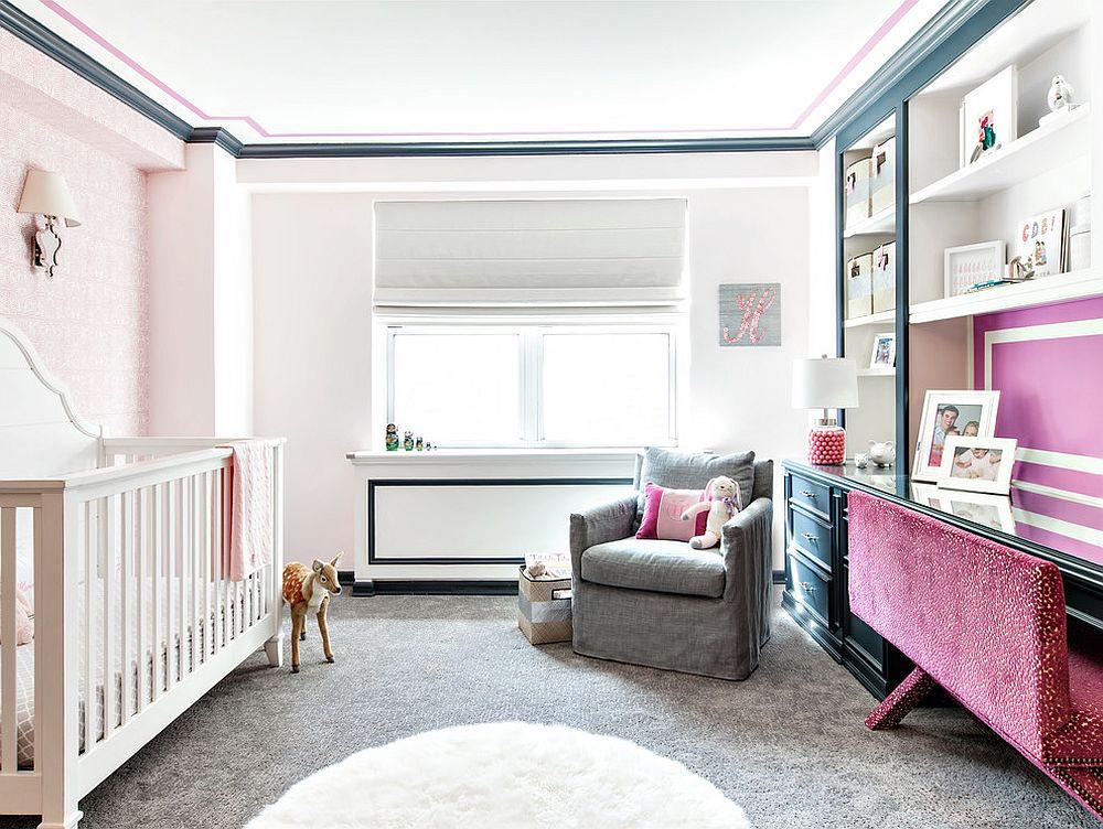 phong be 5 1480581723 Xu hướng trang trí phòng bé với màu hồng và màu xám mới nhất