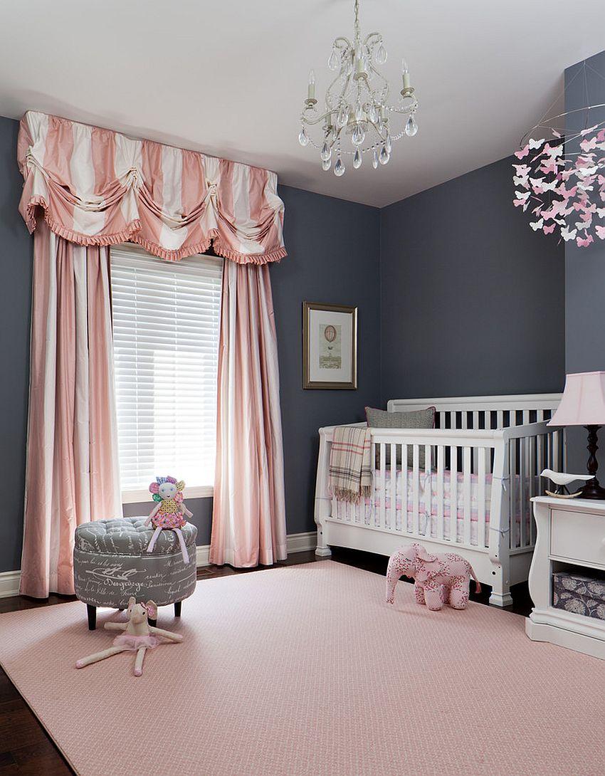 phong be 6 1480581792 Xu hướng trang trí phòng bé với màu hồng và màu xám mới nhất