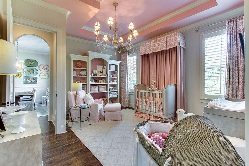 phong be 7 1480581938 Xu hướng trang trí phòng bé với màu hồng và màu xám mới nhất