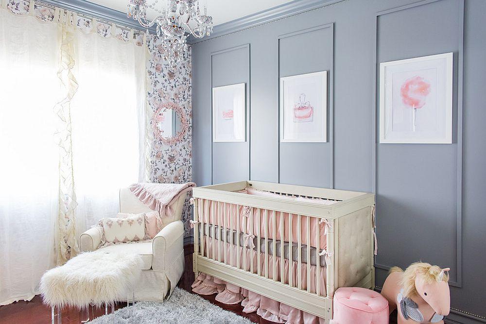 phong be 9 1480581969 Xu hướng trang trí phòng bé với màu hồng và màu xám mới nhất
