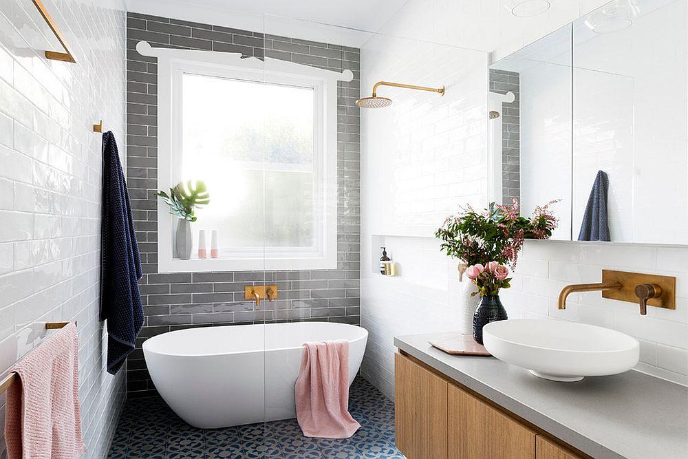 phong tam3 1480760600 Xu hướng kết hợp với sắc xám ở trong phòng tắm
