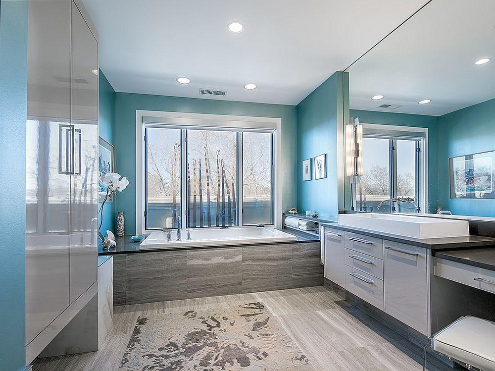 phong tam4 1480760666 Xu hướng kết hợp với sắc xám ở trong phòng tắm