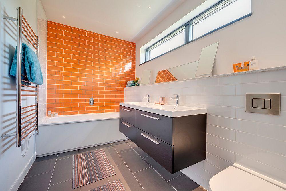 phong tam8 1480760820 Xu hướng kết hợp với sắc xám ở trong phòng tắm