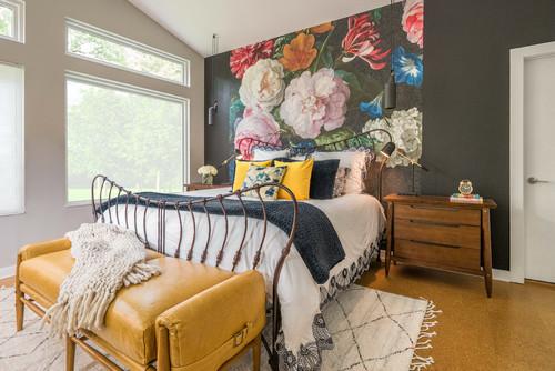 Nhà đẹp với nội thất in hoa hiện đại