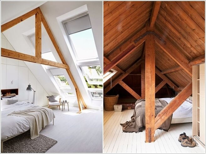 10 thiết kế dành riêng cho căn phòng áp mái