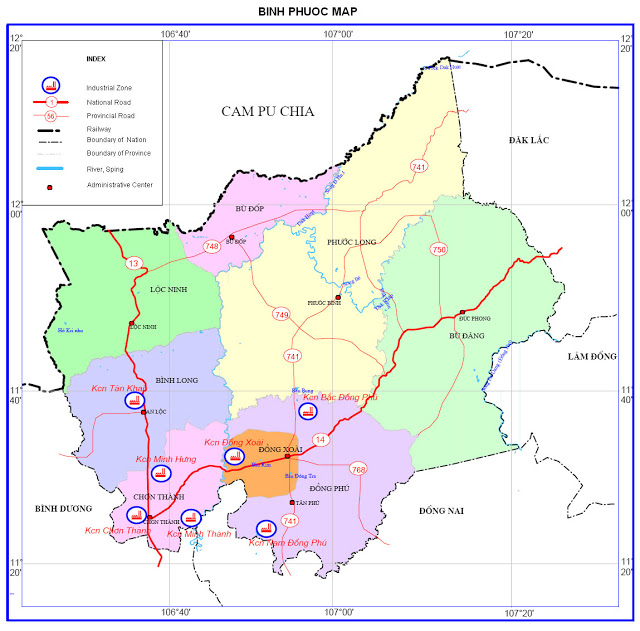 Bình Phước: Quy hoạch 35  Cụm công nghiệp với gần 1.300 ha