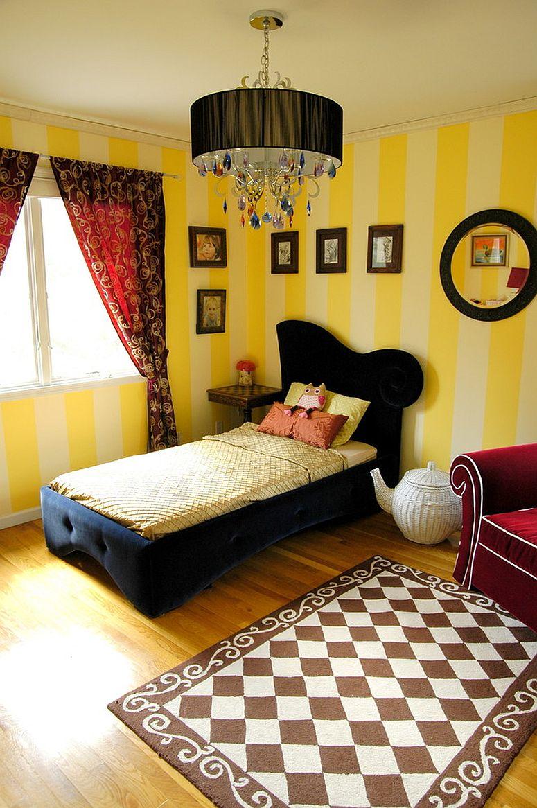 Trang trí phòng bé đầy sức sống với màu vàng tươi sáng