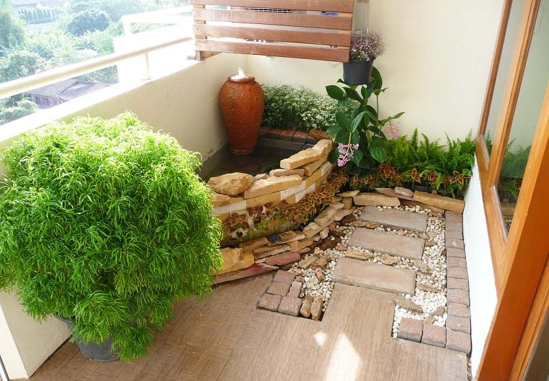Thiết kế ban công thành khu vườn xanh mát