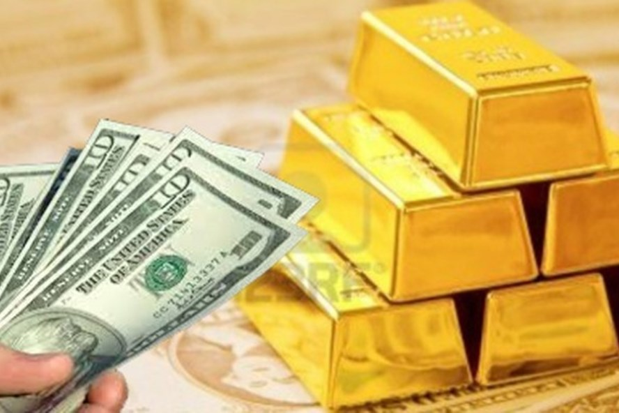 Vàng giảm giá, USD tăng giá