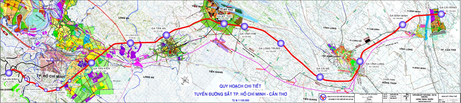 TP.HCM: Điều chỉnh hướng tuyến quy hoạch đường sắt TP.HCM - Cần Thơ
