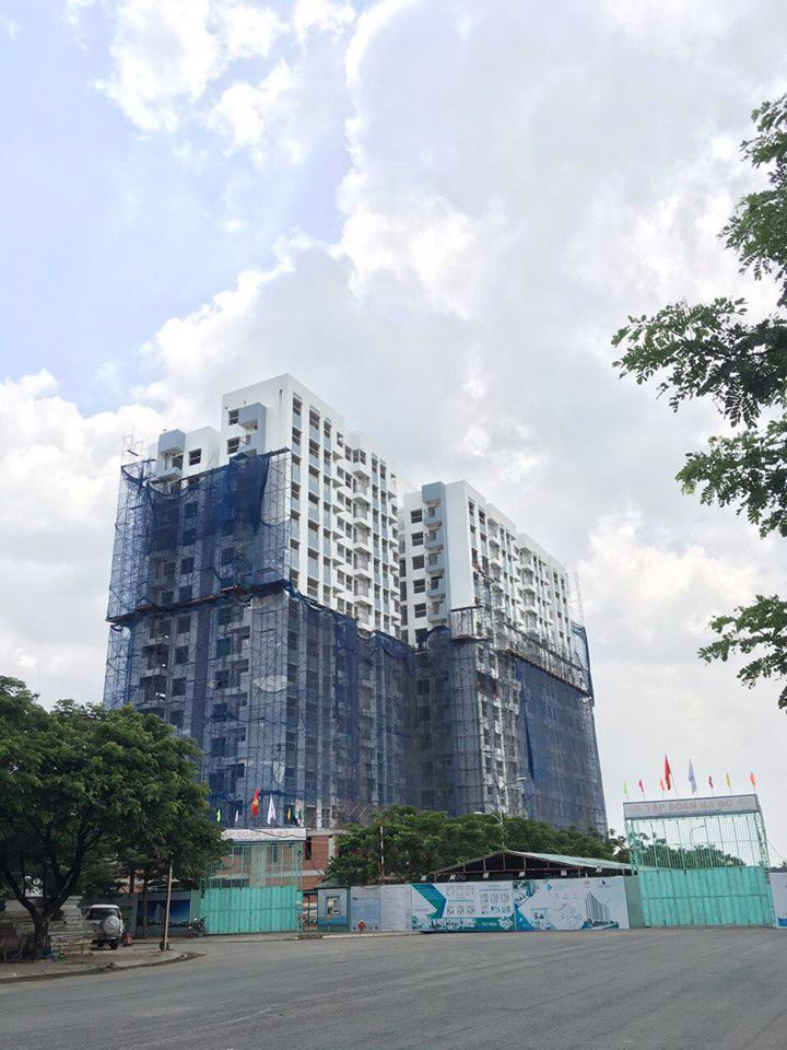 Tiến độ thi công công trình căn hộ Hado Riverside tại Lê Thị Riêng tháng 9/2018