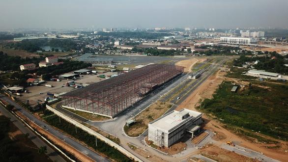 Depot Long Bình của tuyến metro số 1 Bến Thành - Suối Tiên đang hoàn thành