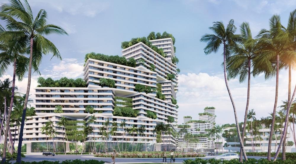 """Khu căn hộ biển với thiết kế rỗng và """"những vườn cây trên cao"""" mang hơi thở thiên nhiên vào mọi ngõ ngách cuộc sống."""