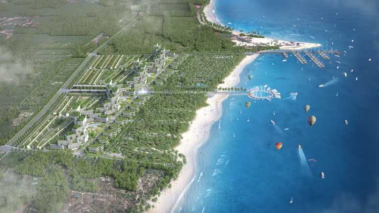 Thanh Long Bay dự kiến sẽ là trung tâm nghỉ dưỡng – giải trí, văn hoá - ẩm thực lớn nhất khu vực, thu hút và phục vụ hàng triệu du khách trong bán kính 20 km