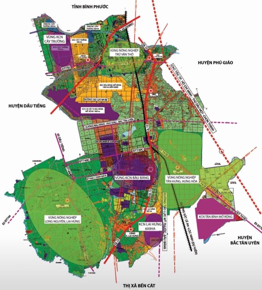 18 dự án nhà ở sẽ được chuyển mục đích sử dụng trong năm 2019 ở Bàu Bàng, Bình Dương