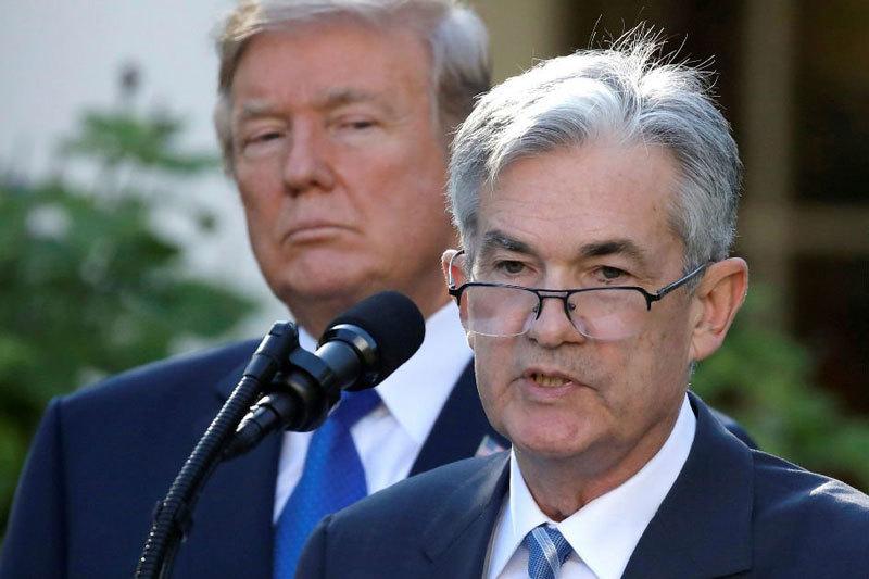 Chủ tịch Fed Jerome Powell. Chiến tranh thương mại khiến Fed nới lỏng chính sách tiền tệ Chiến tranh thương mại khiến Fed nới lỏng chính sách tiền tệ chutichfed 1568018222