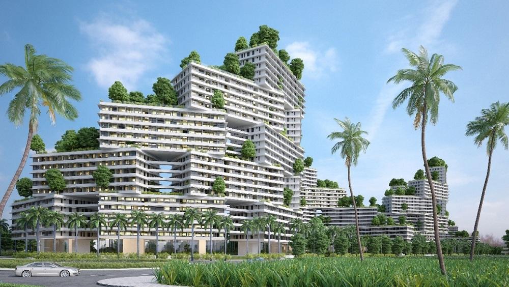 Khu căn hộ biển Thanh Long Bay được thiết kế theo phong cách hiện đại song vẫn hài hòa với cảnh quan xung quanh
