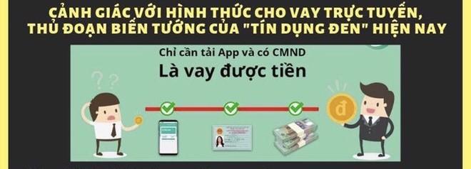Cảnh báo cho vay trực tuyến lãi suất 1.600%/năm conganquan1canhbaotindungden ptrk 1572721838