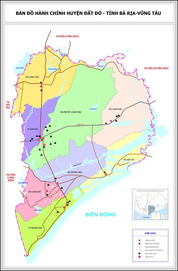 Bà Rịa – Vũng Tàu: Quy hoạch xây dựng vùng huyện Đất Đỏ với 4 phân vùng hanhchinh01 1574326834