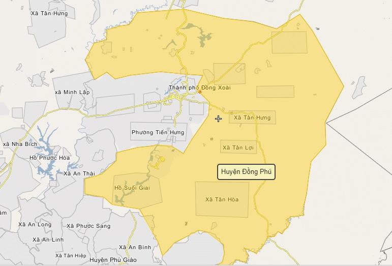 Bình Phước đề xuất thành lập Khu liên hợp công nghiệp, dịch vụ và đô thị Đồng Phú hơn 6.300ha huyen dongphu 1574876909