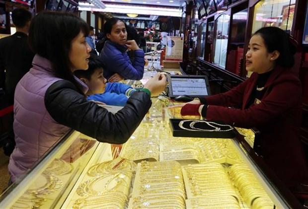 Giá vàng tăng hơn 100.000 đồng mỗi lượng trong tuần này gia vang 1577039999