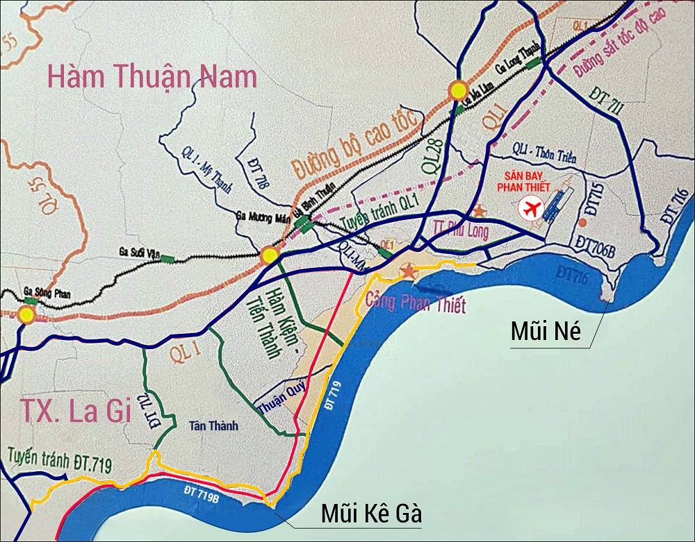 Bất động sản biển Nam Phan Thiết cất cánh từ loạt tuyến đường nối với cao tốc nghìn tỷ