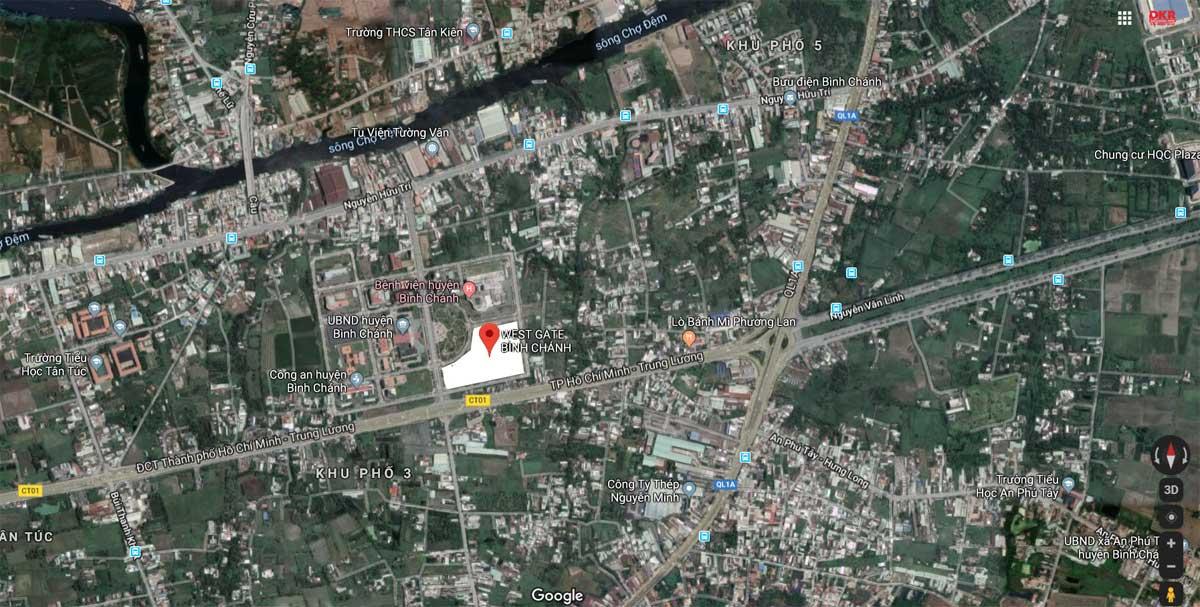 Chấp thuận đầu tư dự án 5.000 tỷ ở Bình Chánh vitrithucteduancanhowestgatebinhchanh 1576763808